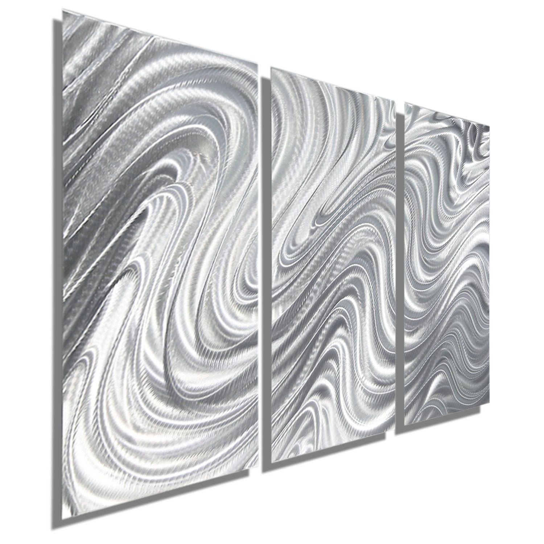 Hypnotic Sands 3 Three Panel Silver Modern Contemporary Metal Wall Art By Jon Allen Contemporary Metal Wall Art Metal Sculpture Wall Art Large Metal Wall Art