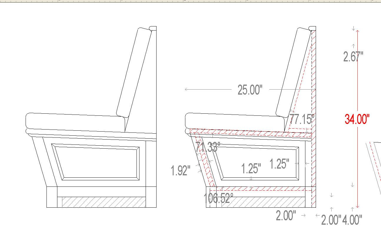 dimensions built in seating | we delivered this built in bench about ...