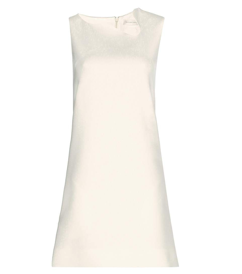 Victoria Beckham - Crêpe mini dress - We love the sleek, A-line silhouette, complete with the sculptural, curved detail to the neckline. - @ www.mytheresa.com