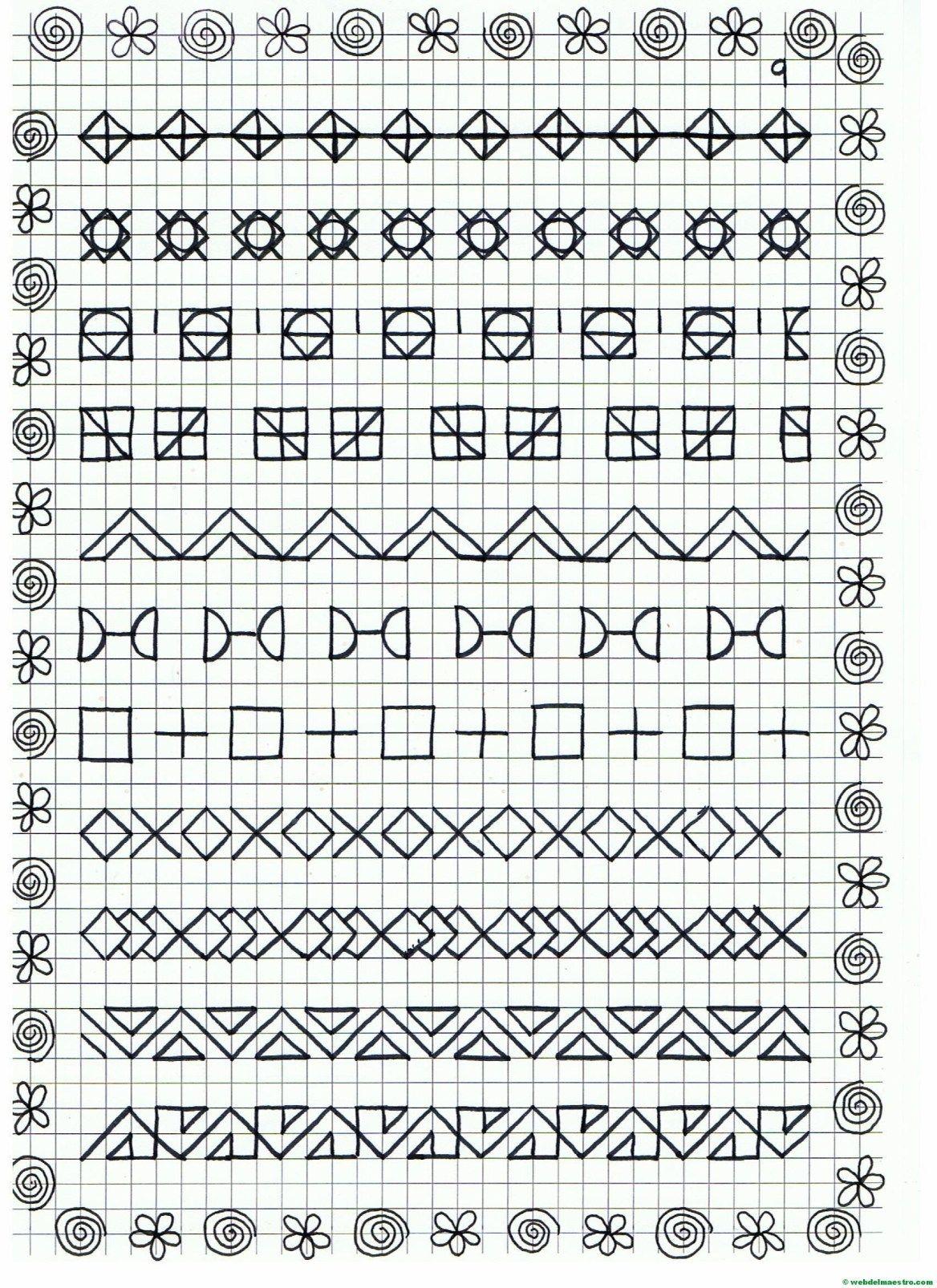 Cenefas - dibujos en cuadrícula para imprimir   Dibujos en