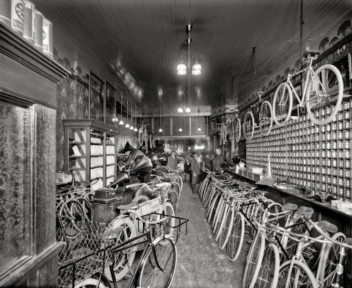 Detroit Michigan Circa 1912 Metzger Bicycle Shop Detroit City