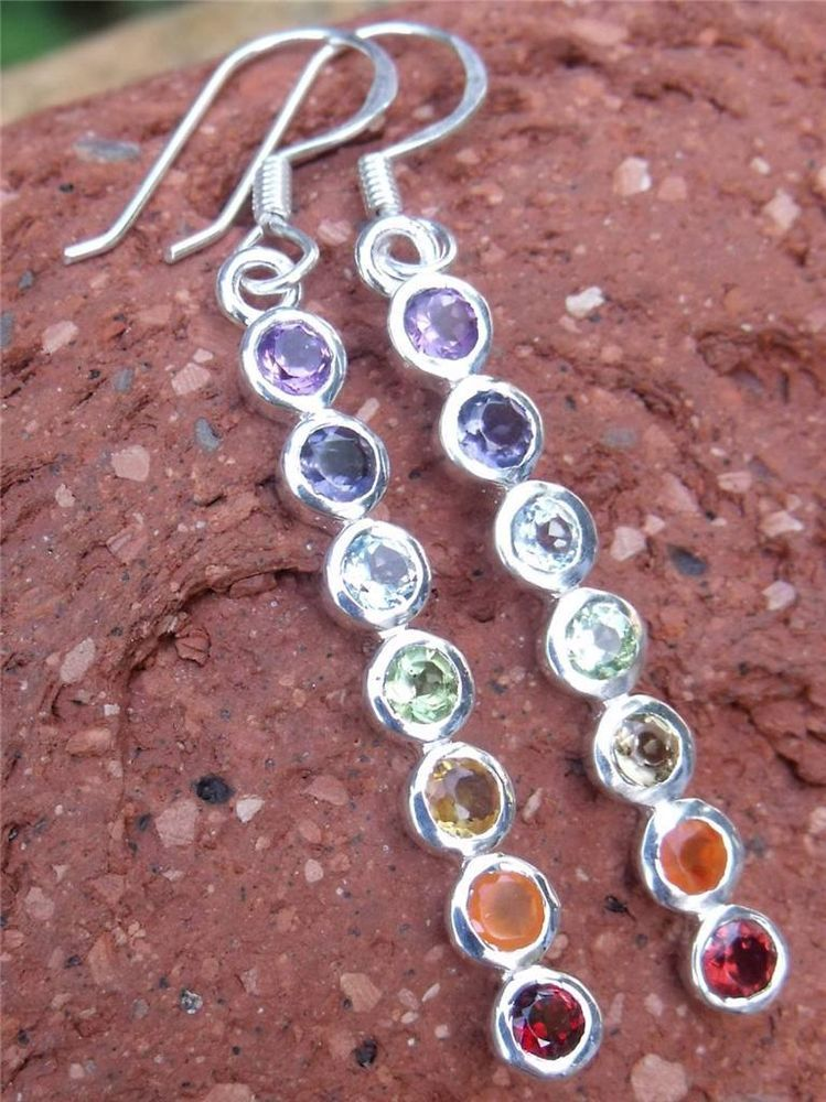 CHAKRA SILVER EARRINGS INDIAN SILVER HANDCRAFTED JEWELLERY