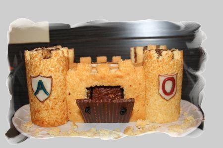 gâteau château fort au nutella par poussiR2lune