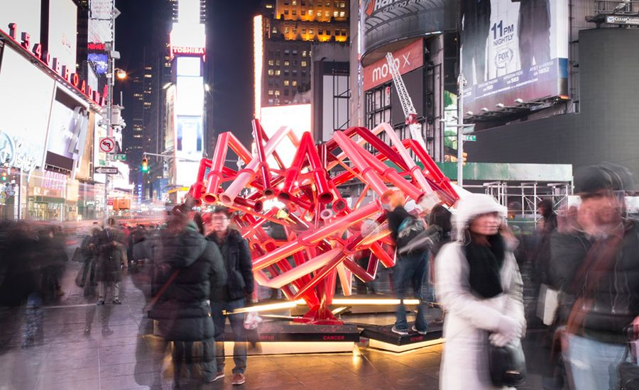 Valentine's Day in Times Square. Architect: Young Projects  Photo © Sean Hemmerle
