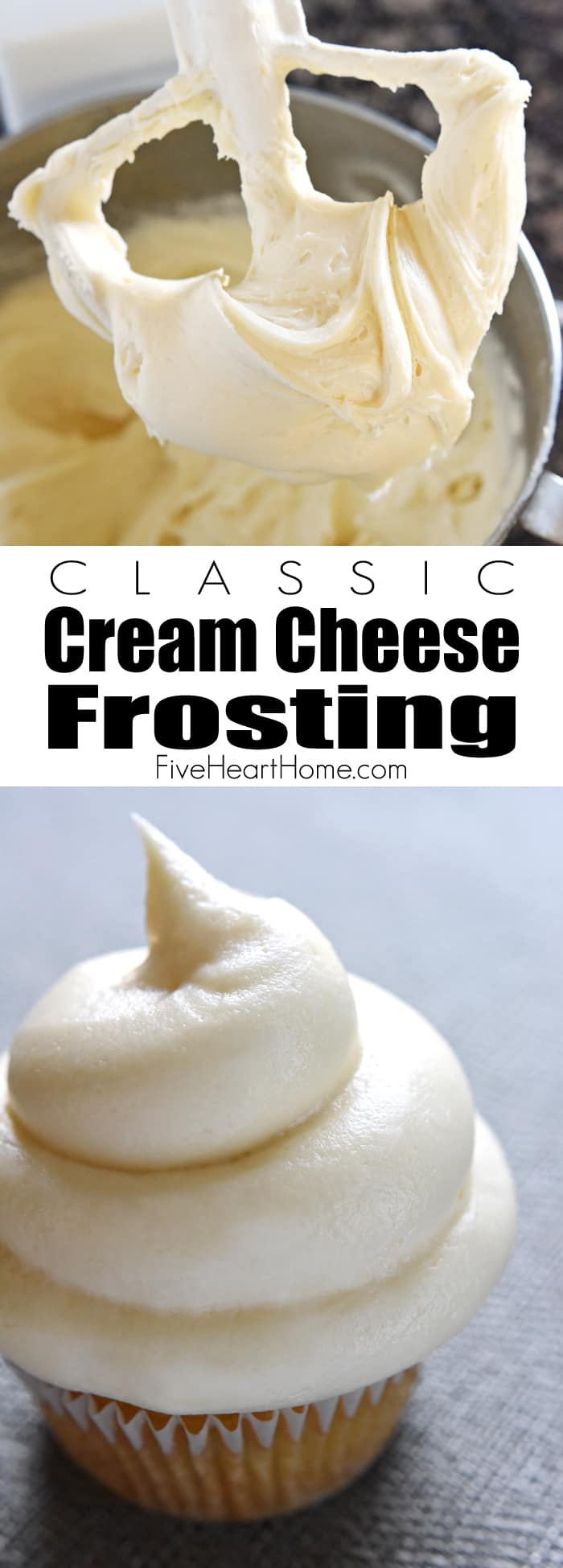 Classic Cream Cheese Frosting ~ silky and sweet with a slight tang from the cream cheese, this effo