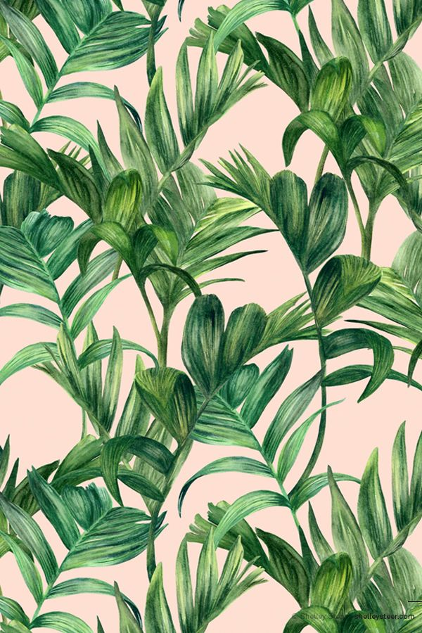 A Side Project April Print Colourway 1 C Shelley Steer Prints Pattern Wallpaper Plants