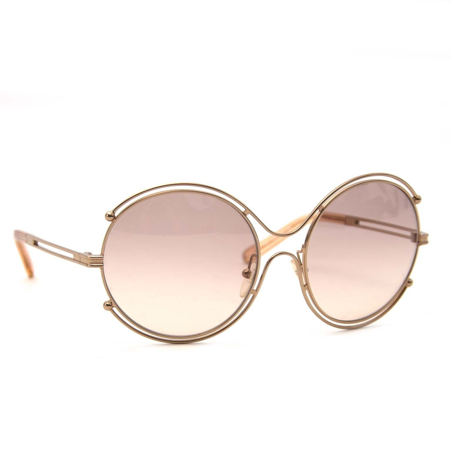 f836aab5a3 Chloé Isidora Rosé Round Sunglasses Buy authentic designer Chloé secondhand  sunglasses at Labellov at the best price. Safe and secure shopping.