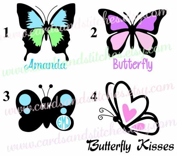 Butterfly Vinyl Decal Butterfly Decal Yeti Decal OR Butterfly - Butterfly vinyl decals