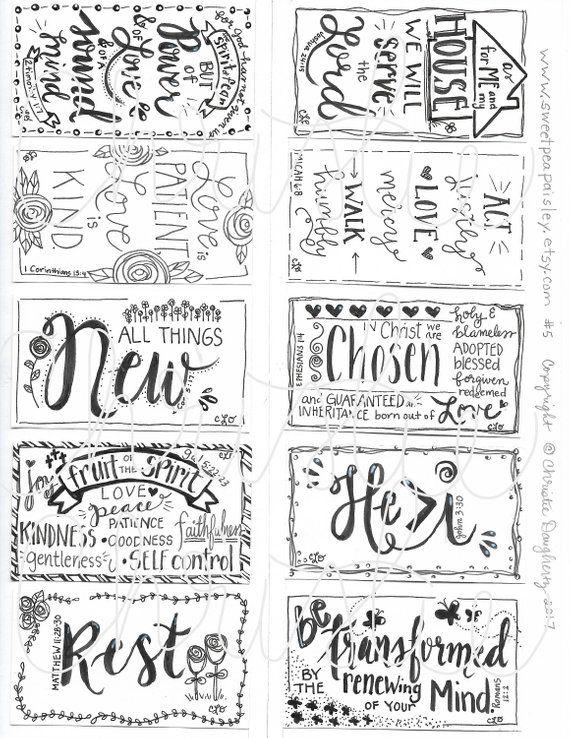 Printable Scripture cards #5, inspirational cards