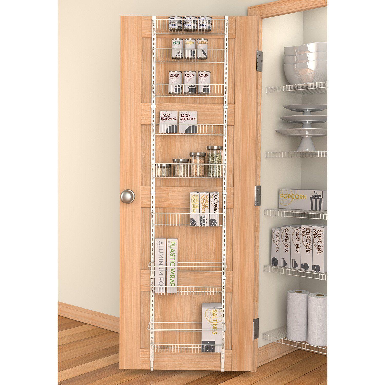 Rack Organizer Shelf Kitchen Cabinet Back Door White Storage Pantry  Bathroom New