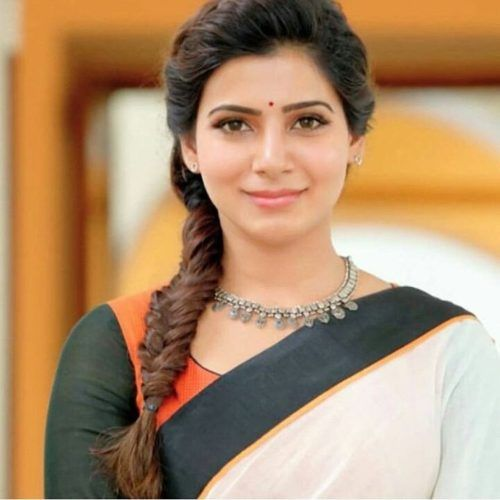 Samantha With Fishtail Side Braid Side Braid Hairstyles Braided Hairdo Indian Hairstyles