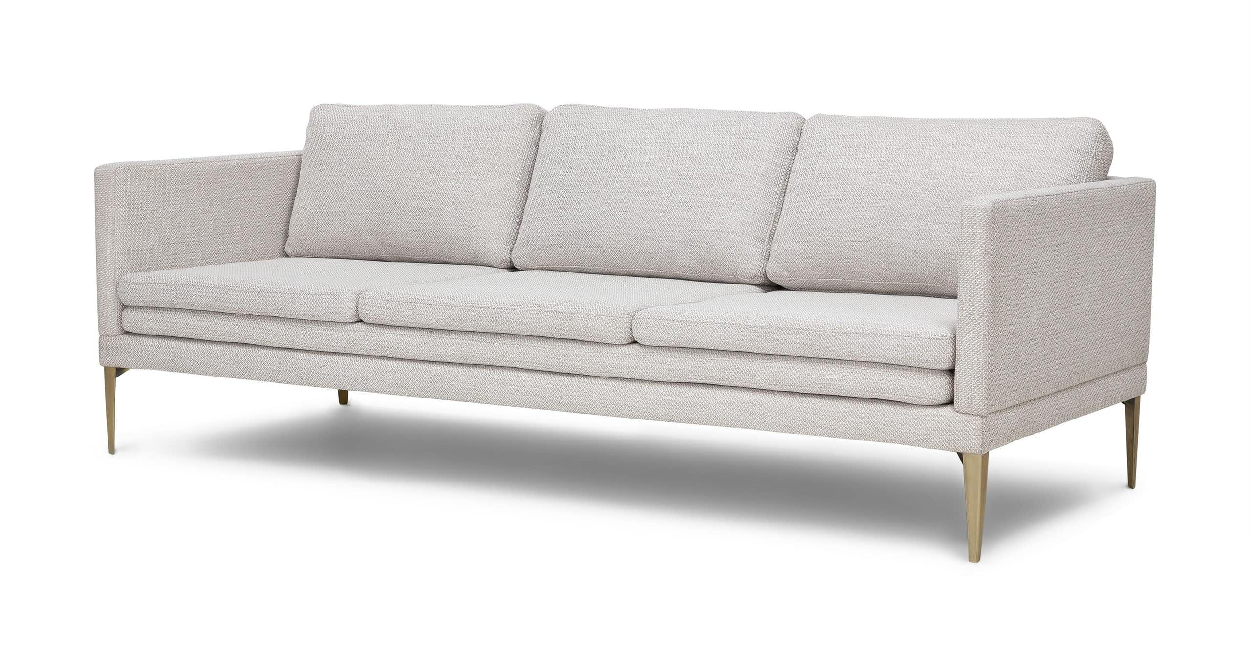 Slim And Elegant This Sofa Has An Unexpected Triple Layer Seat And Stiletto Metal Legs The D Living Room Colors Mid Century Modern Sofa Interior Paint Colors
