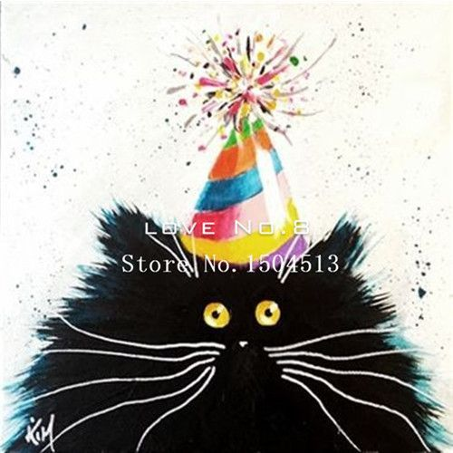 Diy square painting diamond embroidery mosaic animal series cross stitch home decor needlework cat painting