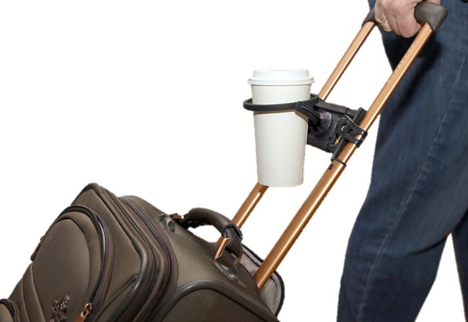 Hand freeing travel drink caddy sharper image with