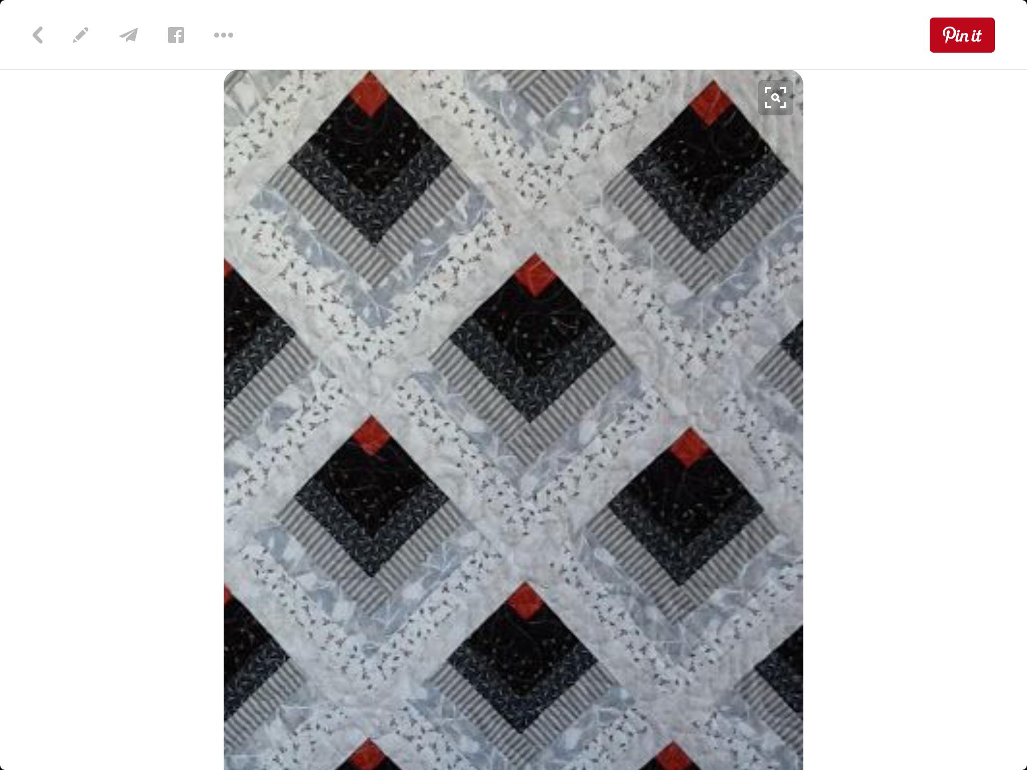 Pin von Marci Rowland auf Quilt Log Cabin | Pinterest | Nähen
