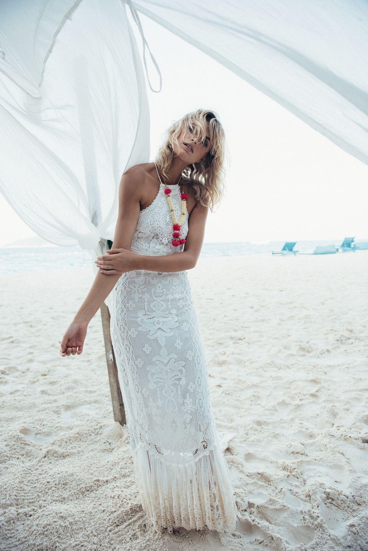 Boho lace wedding dress for boho beach bride wedding dresses