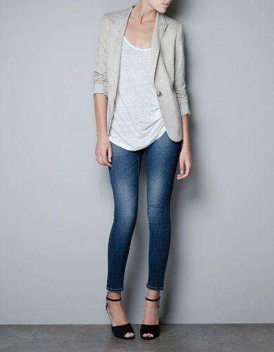 blazer jogging vestes femme zara style fashion pinterest veste femme zara veste. Black Bedroom Furniture Sets. Home Design Ideas