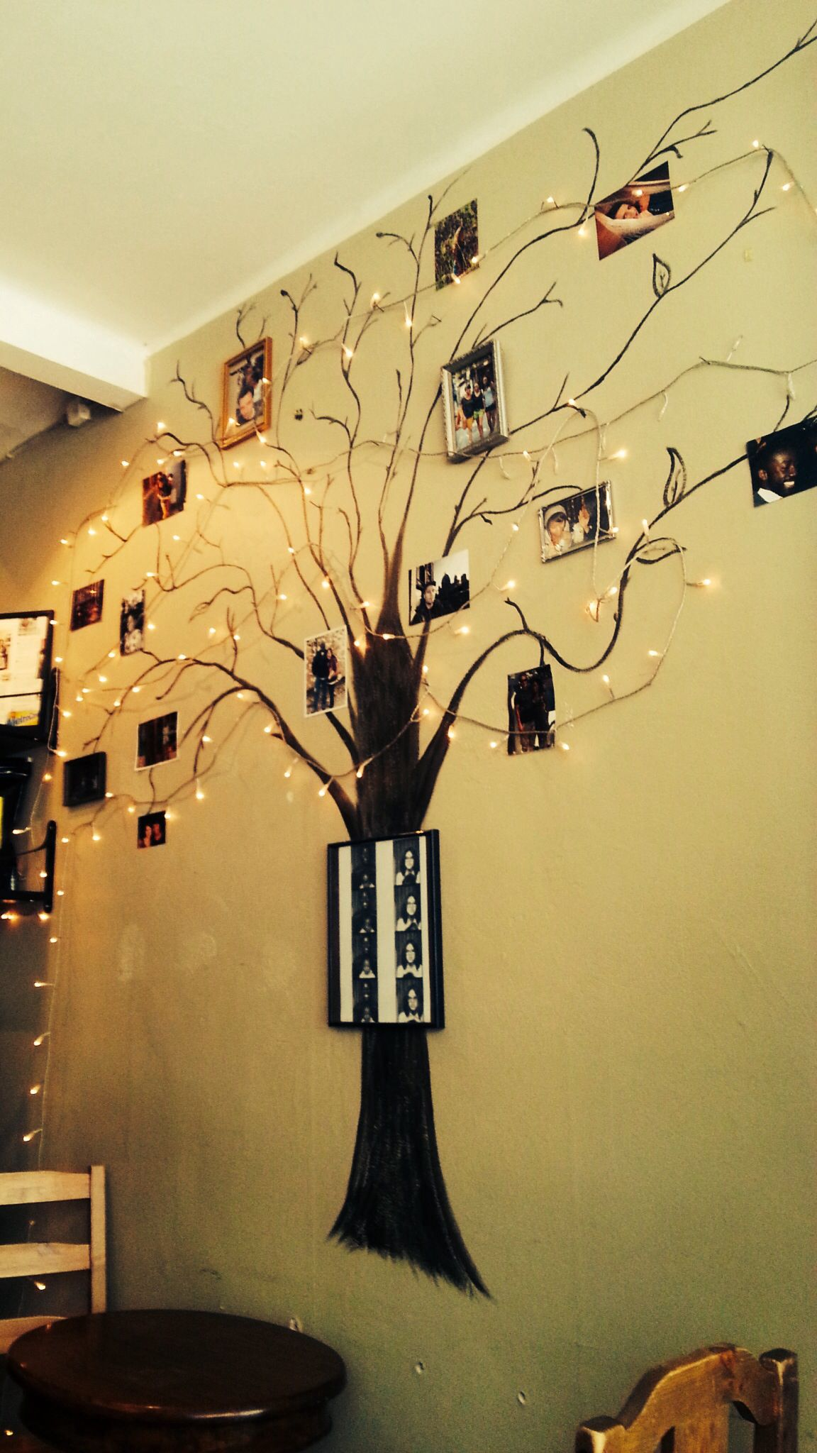 Cutest family tree idea! Found on the wall at the Brookly Cafe, at ...
