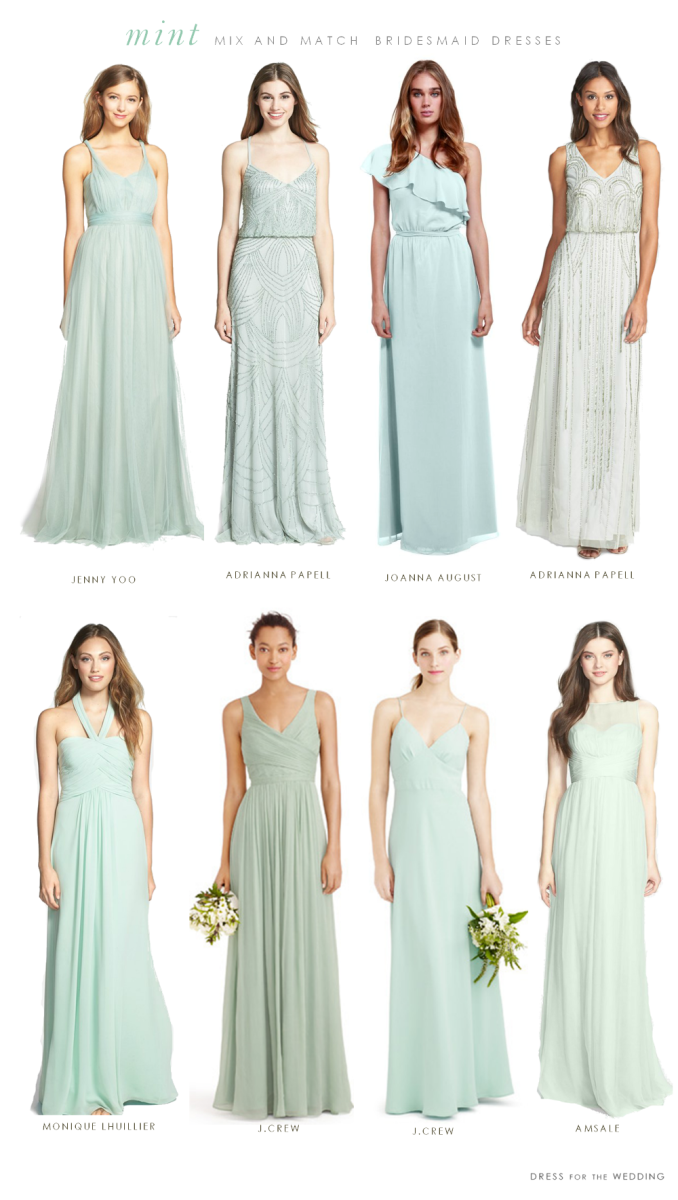 Mint mismatched bridesmaid dresses wedding weddings and mint mint mismatched bridesmaid dresses ombrellifo Image collections