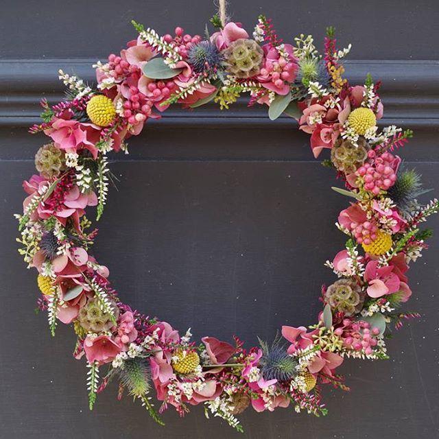 jolie couronne de fleurs s ch es crown flower florist fleuriste fleuristelille lille. Black Bedroom Furniture Sets. Home Design Ideas