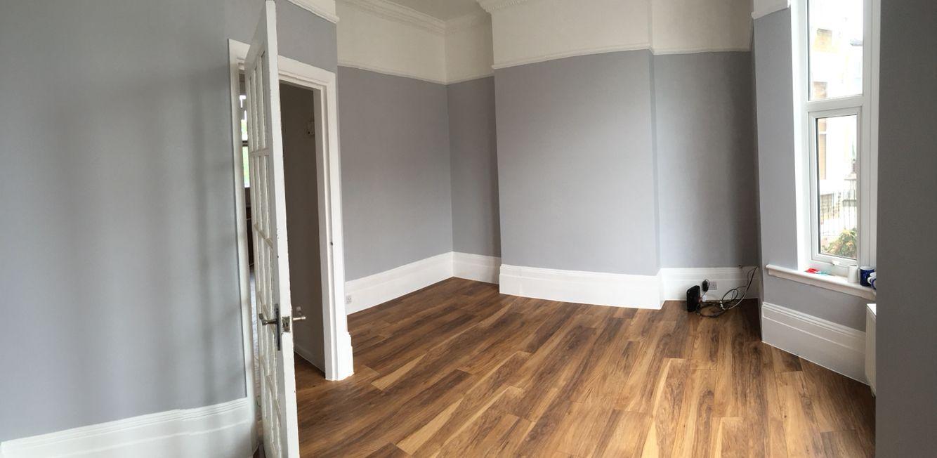 Dulux Grey Steel 4 With Kronos Original Appalachain Floor