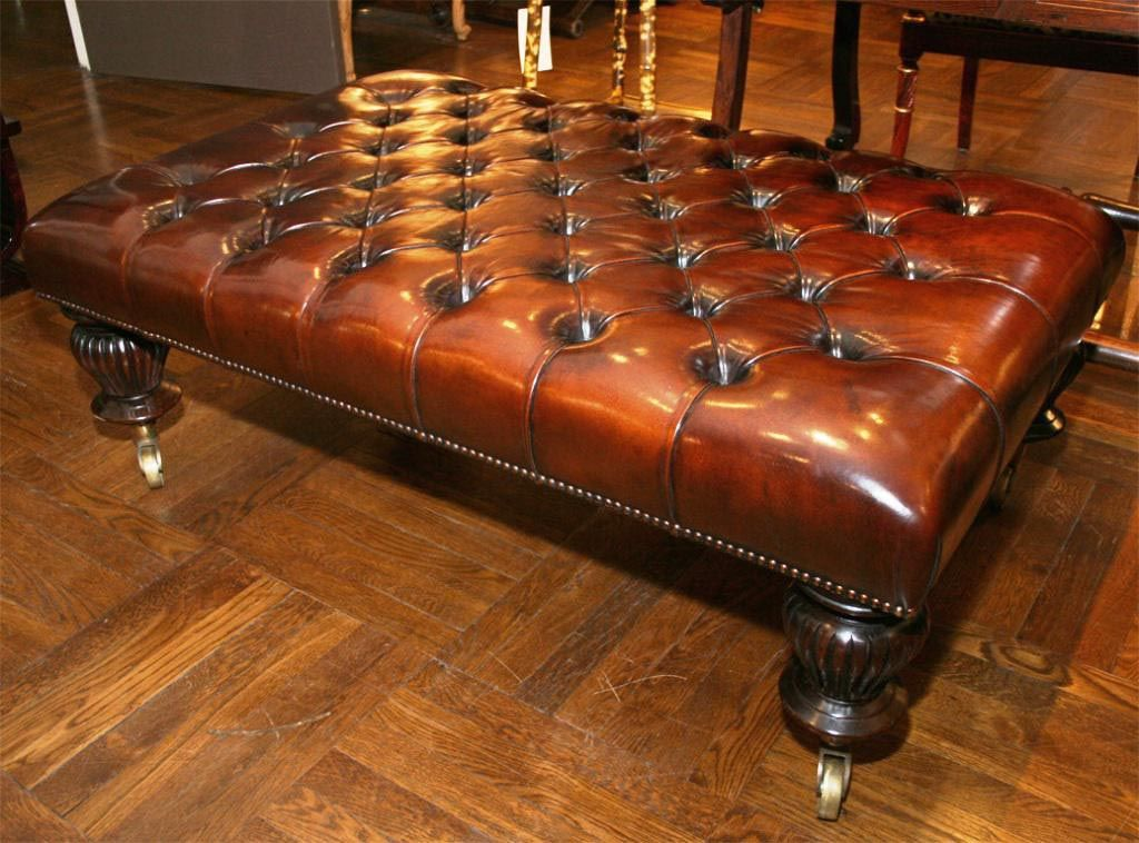 Leather Tufted Ottoman Coffee Table Coffee Table Design