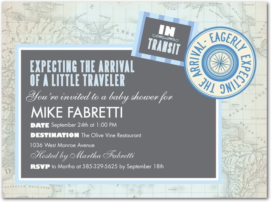 Cute theme for a baby announcement: Little Traveler invitations by ...