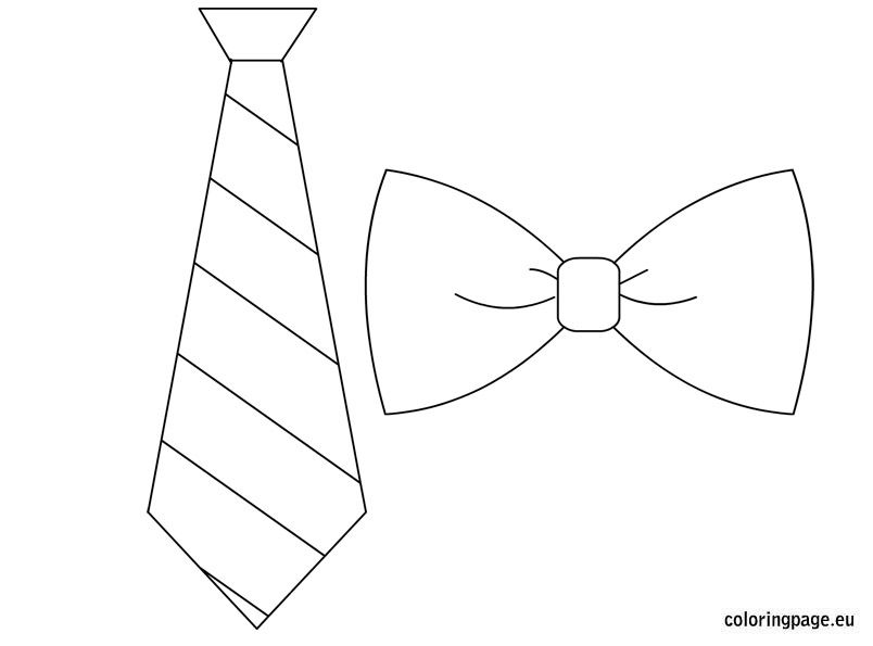 tie & bow template father