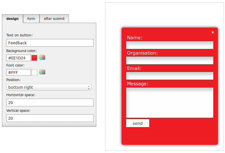Tool To Create A Feedback Form For Your Website Works With Any Cms