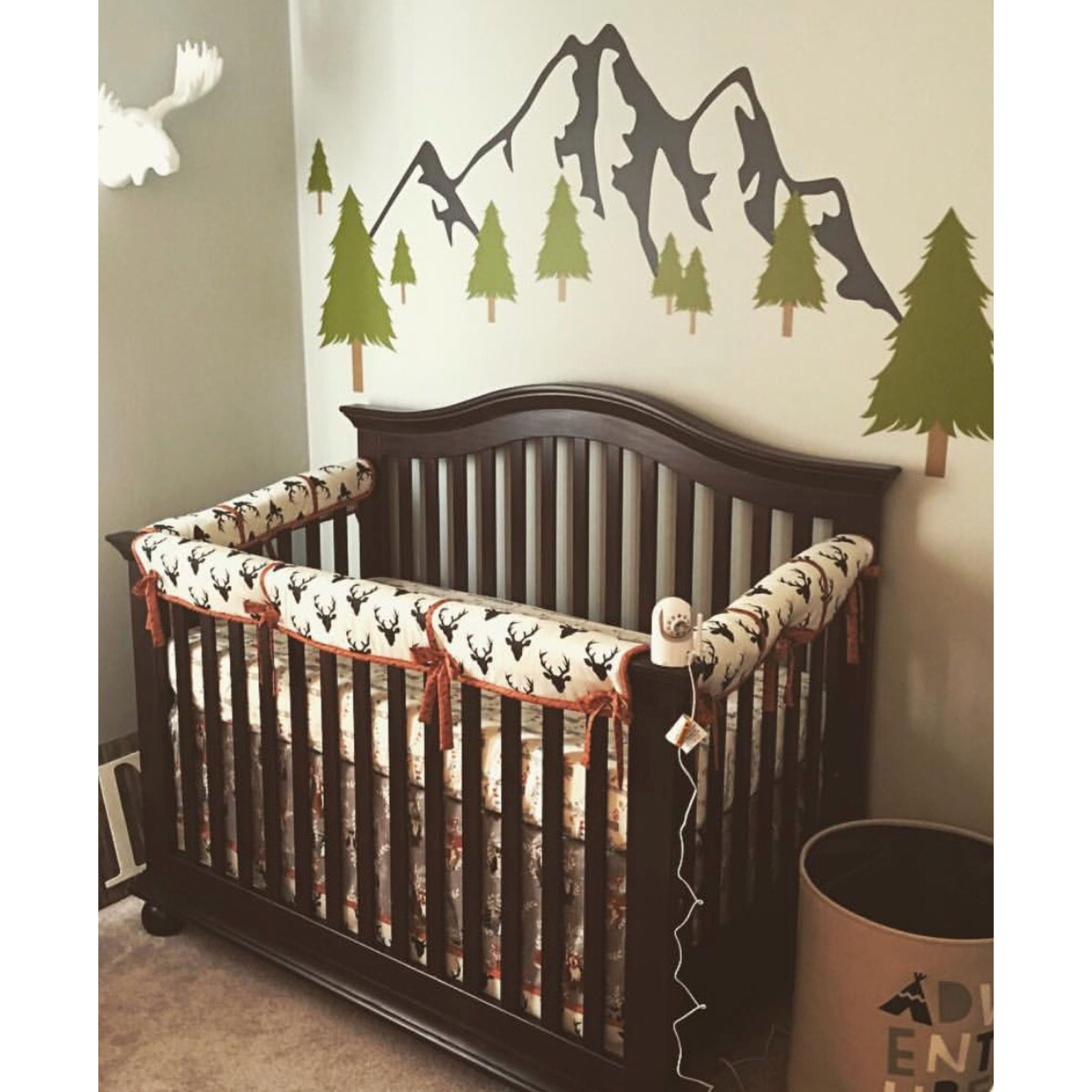 Deer Crib Bedding Buck Forest In Twilight Collection Crib
