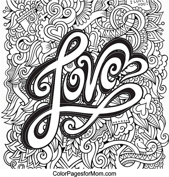 Printable Coloring Pages For Adults Love : Doodles coloring page pinterest