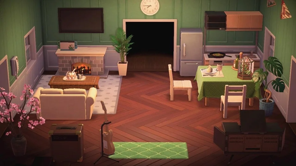 My Living Room Kitchen Hope It Inspires You Animalcrossing ... on Animal Crossing New Horizons Living Room  id=93498