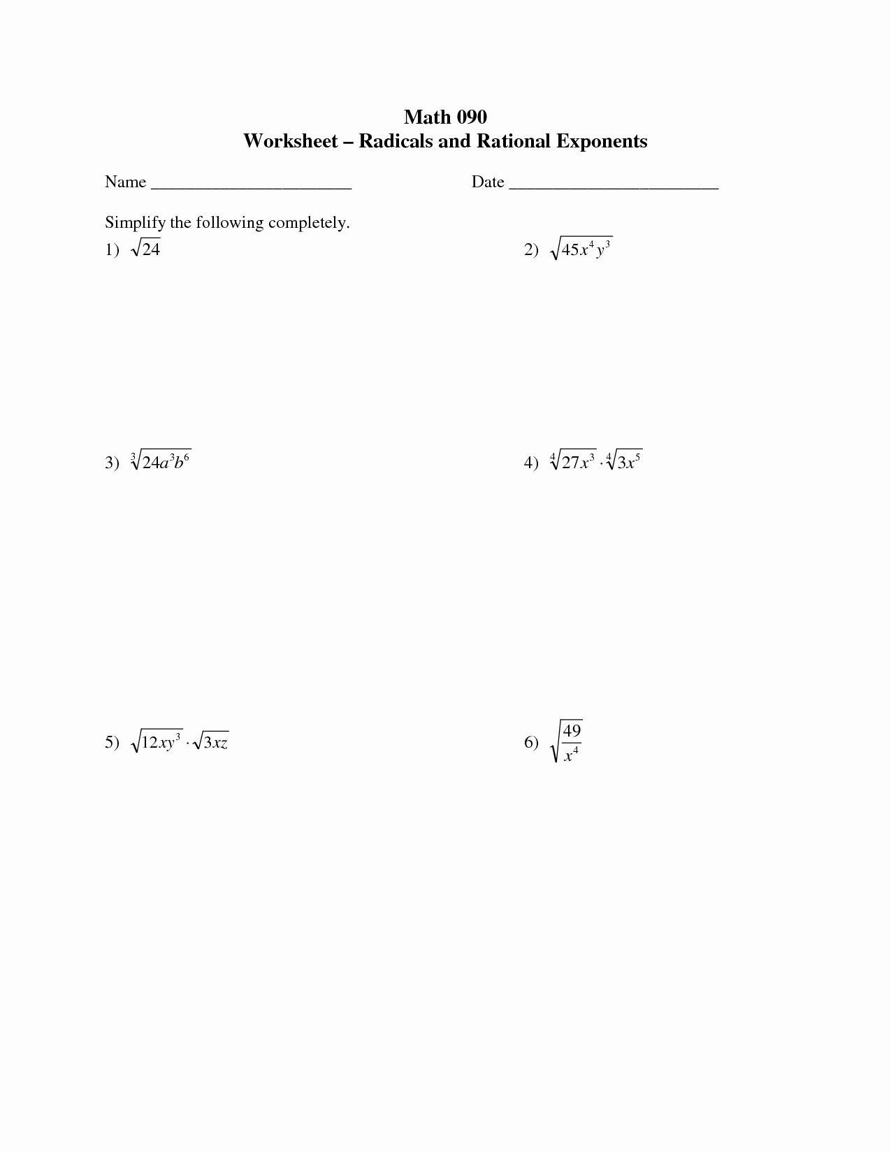 Radicals And Rational Exponents Worksheet 50 Radical And Rational Exponents Worksheet In 2020 Exponent Worksheets Exponents Worksheets