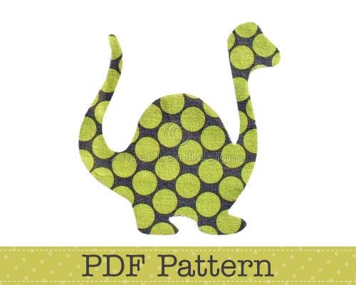 Dinosaur Applique Pattern, PDF Template, Applique Designs, Baby - onesie template
