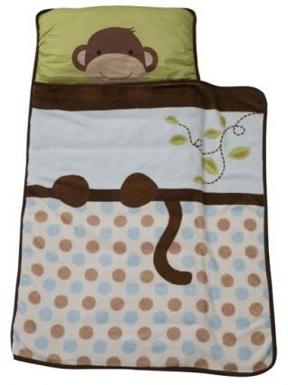 Monkey Nap Mat Toddler Nap Blanket And Pillow Set By Lambs
