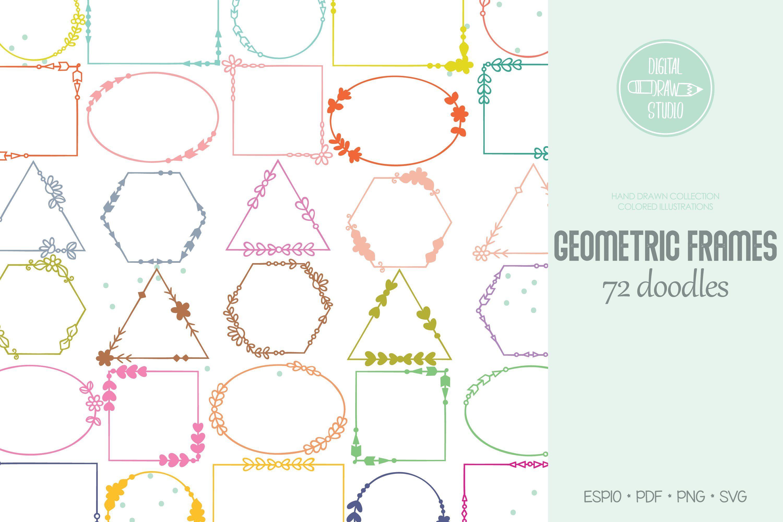 Download Geometric Frame Color Decorative Border Floral Wreath Banner Clip Art Decorative Borders Watermark Pictures