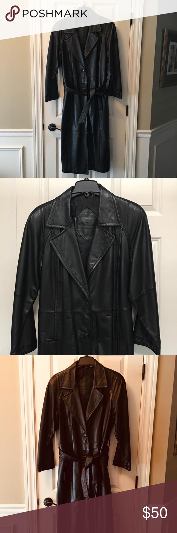 Genuine Leather Coat My Posh Closet Pinterest Coat Leather