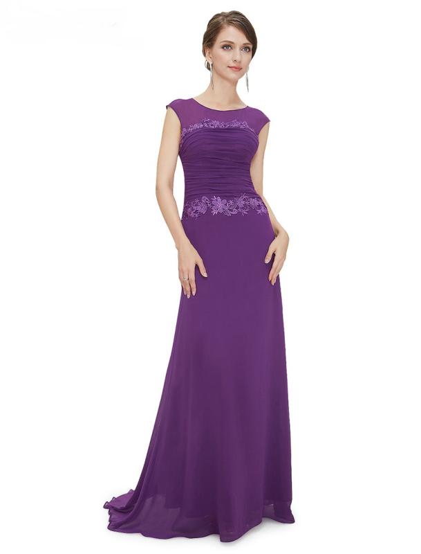 Round Neck Long Elegant Bridesmaid Party Dress - Uniqistic.com ...