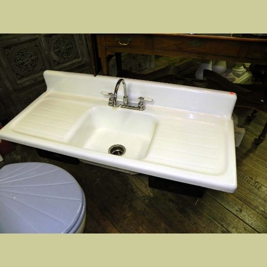 Vintage Porcelain Sink Vintage Porcelain Over Cast Iron Kitchen
