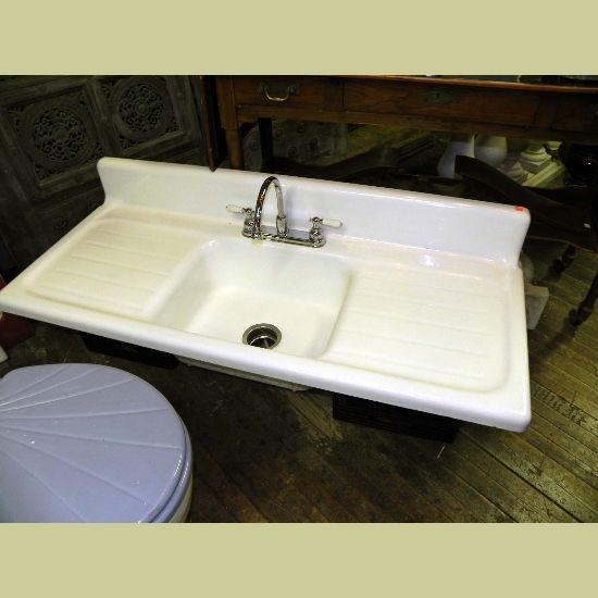 Vintage Porcelain Sink   Vintage Porcelain Over Cast Iron Kitchen Sinks And  Farm House Sinks