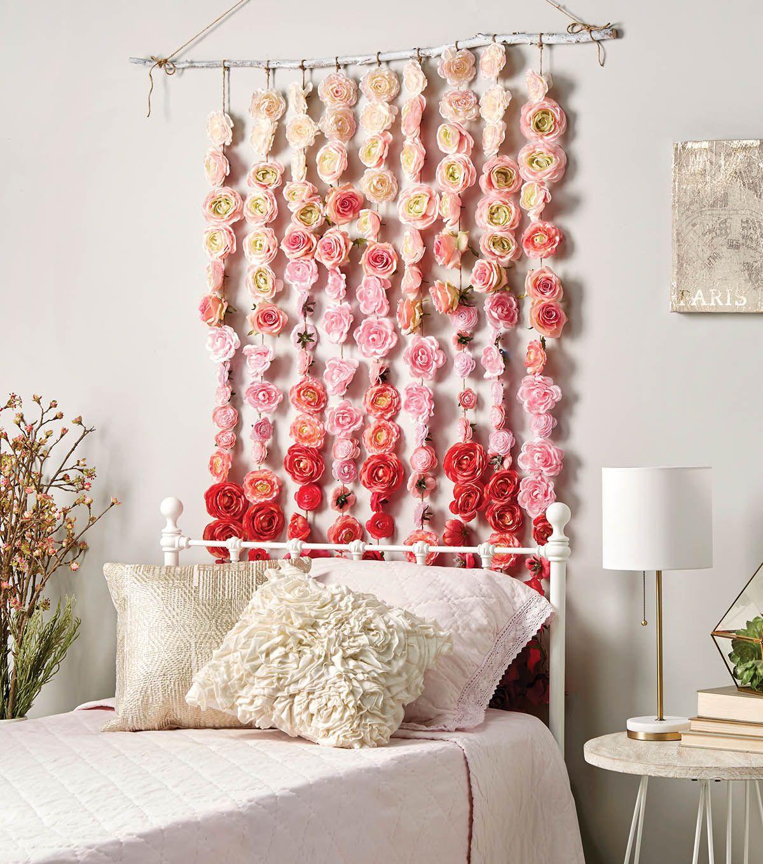 How To Make A Rose Garland  Room diy, Handmade home, Diy roses