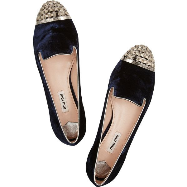 outlet for nice Miu Miu Velvet Cap-Toe Loafers fashionable sale online with mastercard sale online IVZvDBoM5w