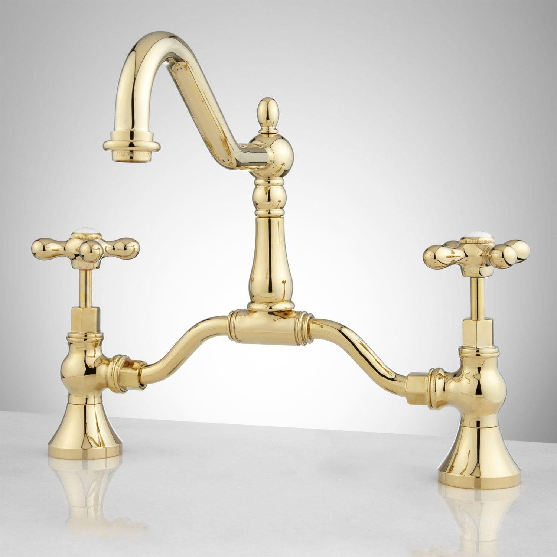 Elnora Bridge Bathroom Faucet - Cross Handles | Faucet, Bath and ...