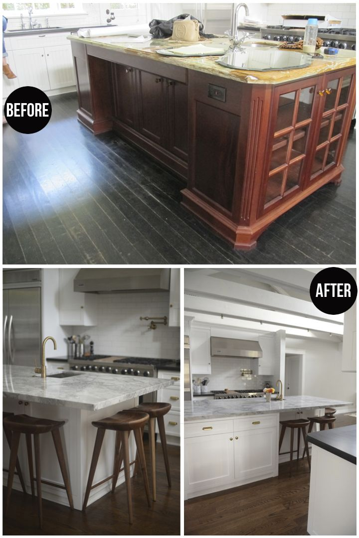 Before after kitchen island maximize storage space and - Small kitchen islands with seating and storage ...