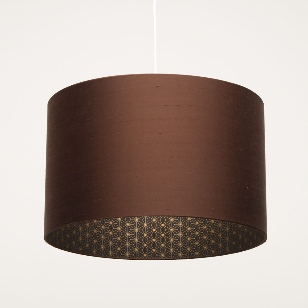 Brown silk drum lampshade with gold lamp design ideas ideas for brown silk drum lampshade with gold lamp design ideas aloadofball Choice Image