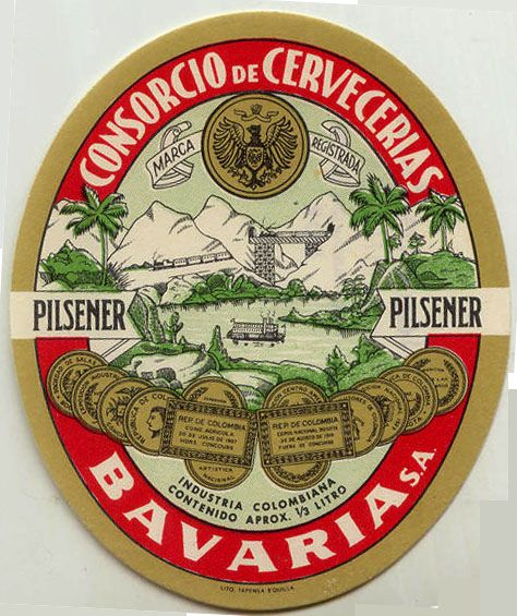 Train Beer Label From Colombia  Colombia Beer Coasters And Beverage