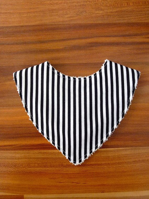 Handmade monochrome organic cotton dribble bib