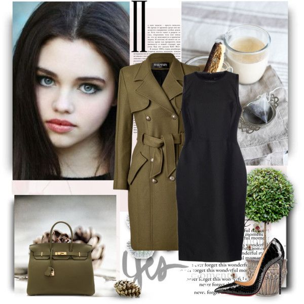 MILITARY STYLING WITH A MODERN TWIST by sameriasstylephiles on Polyvore featuring Ralph Lauren Black Label, Balmain, Hermès and modern