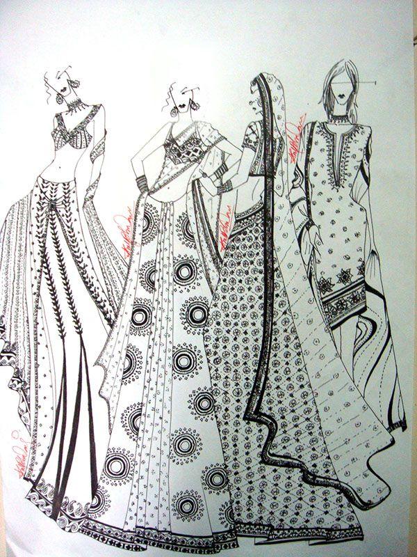 Fashion Illustration Indian Wear Lehenga Illustration Indianbr Fashion Illustration Sketches Dresses Illustration Fashion Design Fashion Illustration Sketches