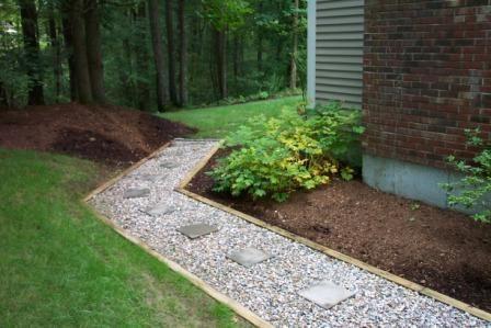 Natural Stone Walkway Garden Driveway